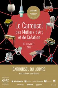 Aurore figure sur l'affiche pour le Carrousel des Métiers d'Art et de Création Salons 2016