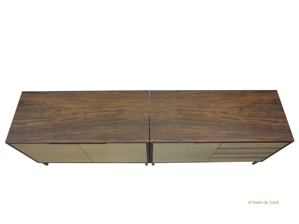 Double-credenza-side-by-side-showing-walnut-book-match-veneer